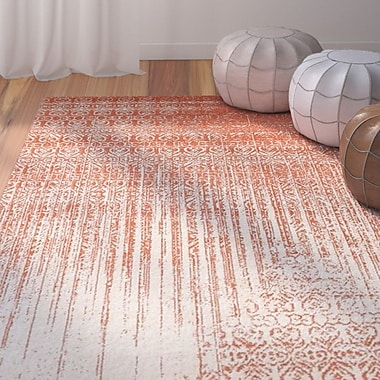 Bungalow Rose Raphael Red Area Rug; 4' x 5'7''