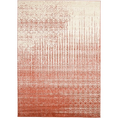 Bungalow Rose Raphael Red Area Rug; 7' x 10'