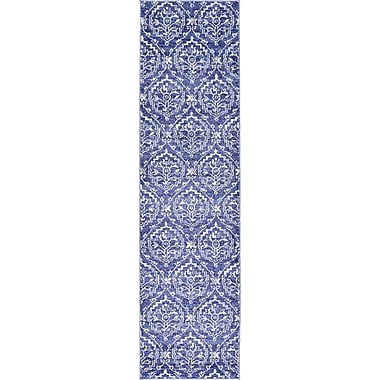 Bungalow Rose Ezequiel Blue Area Rug; Runner 2'7'' x 10'