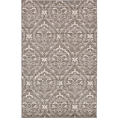 Bungalow Rose Ezequiel Light Brown Area Rug; 5' x 8'