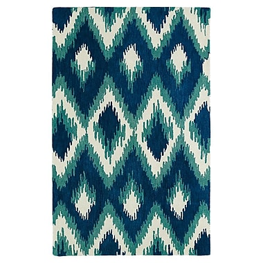 Bungalow Rose Powers Lake Blue & Green Area Rug; 5' x 7'9''