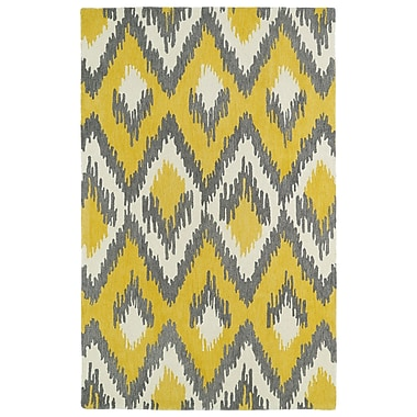 Bungalow Rose Powers Lake Yellow & Grey Area Rug; 2' x 3'