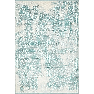 Bungalow Rose Wilton Blue Area Rug; 5' x 8'