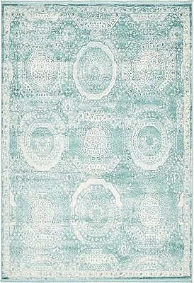Bungalow Rose Wilton Blue Area Rug; 7' x 10'