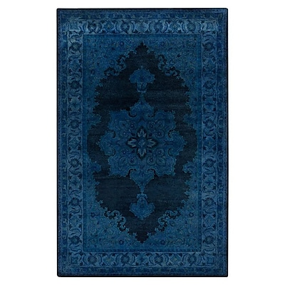 Bungalow Rose Reckange-sur-Mess Tufted Navy Area Rug; 5' x 8'