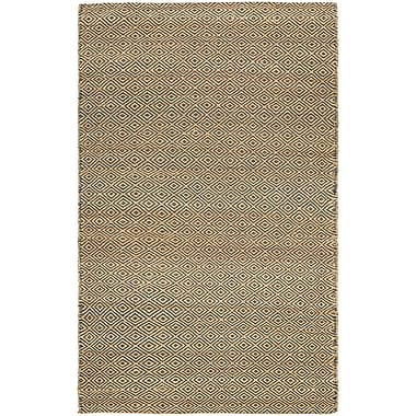 Bungalow Rose Uhlig Hand-Woven Linen Area Rug; 7'10'' x 10'10''