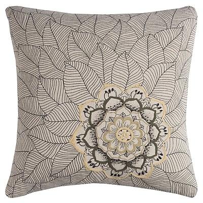 Bungalow Rose Lanesborough Cotton Throw Pillow; Natural
