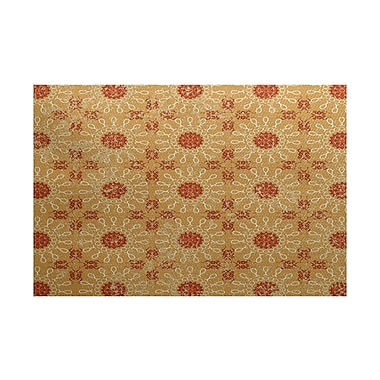 Bungalow Rose Soluri Gold / Orange Indoor/Outdoor Area Rug; 2' x 3'