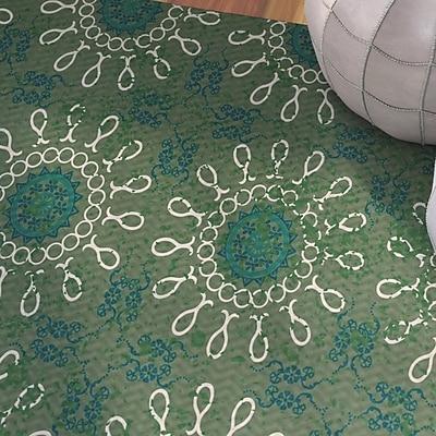 Bungalow Rose Soluri Green Indoor/Outdoor Area Rug; 2' x 3'