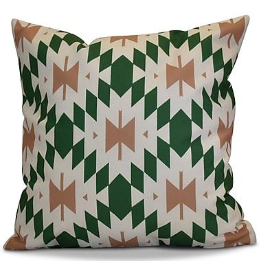 Bungalow Rose Soluri Geometric Euro Pillow; Green