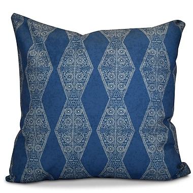 Bungalow Rose Soluri Pyramid Striped Geometric Euro Pillow; Blue