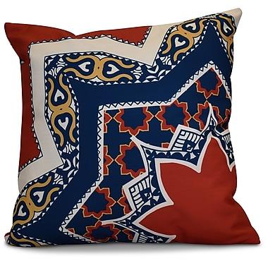Bungalow Rose Soluri Rising Star Geometric Euro Pillow; Red