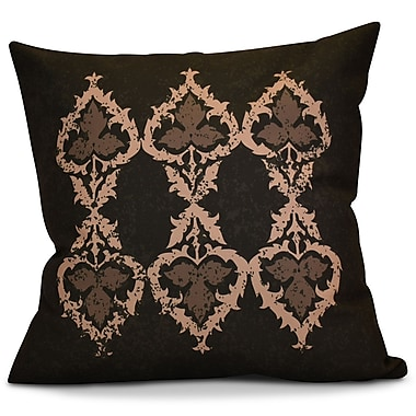 Bungalow Rose Soluri Geometric Euro Pillow; Brown