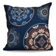 Bungalow Rose Soluri Medallions Geometric Euro Pillow; Blue
