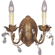 Bungalow Rose Kaiya 2-Light Wall Sconce; Etruscan Gold