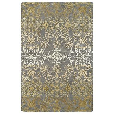 Bungalow Rose Paita Gray/Gold Area Rug; 9'6'' x 13'