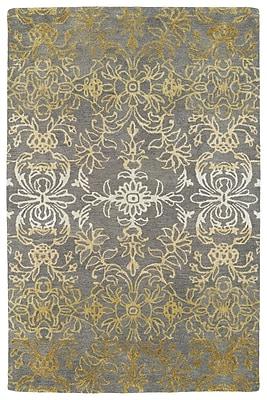 Bungalow Rose Paita Gray/Gold Area Rug; 8' x 11'