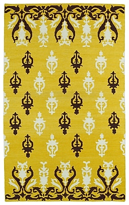 Bungalow Rose Saint-Philippo Yellow Area Rug; 3'6'' x 5'6''