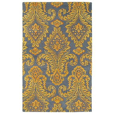 Bungalow Rose Paita Yellow/Gray Area Rug; 5' x 7'9''