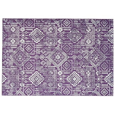 Bungalow Rose Gharass Violet Area Rug; 2'2'' x 4'