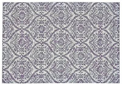 Bungalow Rose Gharass Gray Area Rug; Round 8'