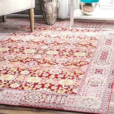 Bungalow Rose Douglas Red Area Rug; 9' x 12'