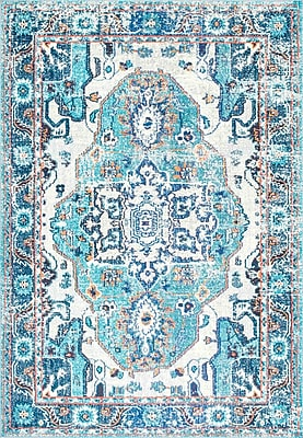 Bungalow Rose Ahmed Blue Area Rug; Runner 2'6'' x 8'