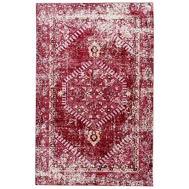 Bungalow Rose Javon Persian Red/Cashmere Rose Area Rug; 5' x 8'