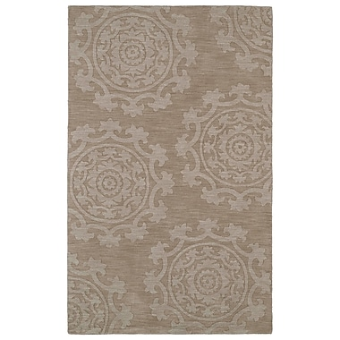 Bungalow Rose Ouinane Light Brown Solid Area Rug; 3'6'' x 5'6''