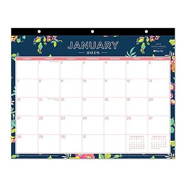 Tablet Calendar DD Navy Floral 11x8.75 RY 2018 Monthly