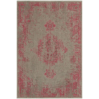 Bungalow Rose Raiden Gray/Pink Area Rug; 3'10'' x 5'5''