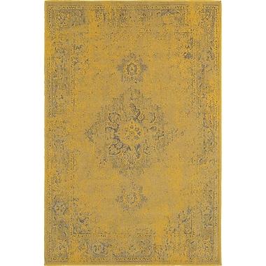 Bungalow Rose Raiden Yellow/Gray Area Rug; 1'10'' x 3'3''