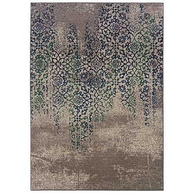 Bungalow Rose Terrell Grey/Blue Area Rug; 9'9'' x 12'2''