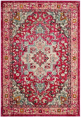 Bungalow Rose Kilina Fuchsia/Light Blue Area Rug; 5'1'' x 7'7''
