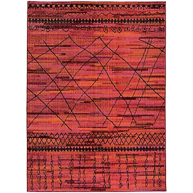 Bungalow Rose Marquis Orange Area Rug; 6'7'' x 9'1''