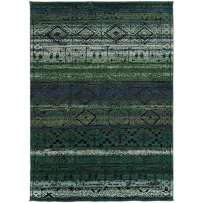 Bungalow Rose Marquis Green/Blue Area Rug; 6'7'' x 9'1''