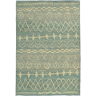 Bungalow Rose Marquis Blue/Beige Area Rug; Runner 2'7'' x 10'
