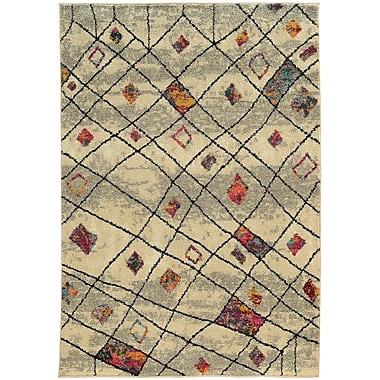 Bungalow Rose Marquis Ivory Area Rug; 4' x 5'9''