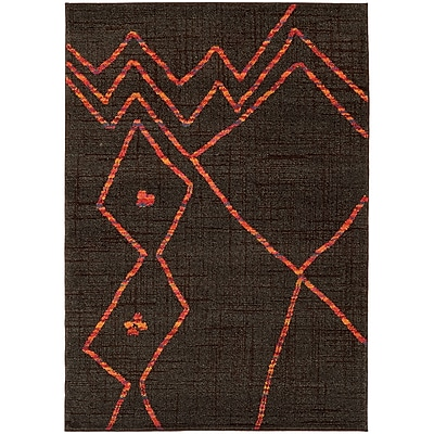 Bungalow Rose Marquis Brown/Orange Area Rug; 6'7'' x 9'1''