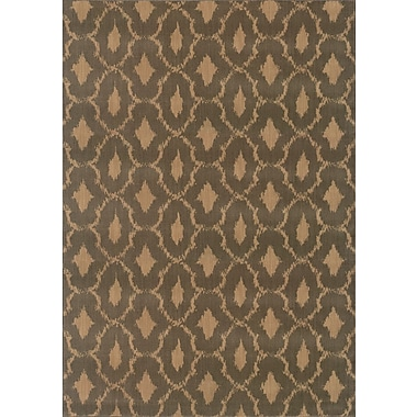 Bungalow Rose Sincere Brown/Green Area Rug; 1'10'' x 3'3''