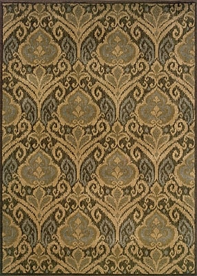 Bungalow Rose Sincere Green/Ivory Area Rug; 6'7'' x 9'6''