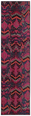 Bungalow Rose Terrell Tribal Blue/Pink Area Rug; 9'9'' x 12'2''