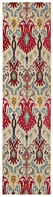 Bungalow Rose Terrell Ivory & Red Area Rug; Runner 2'7'' x 10'