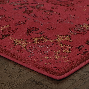 Bungalow Rose Raiden Pink/Yellow Area Rug; 7'10'' x 10'10''