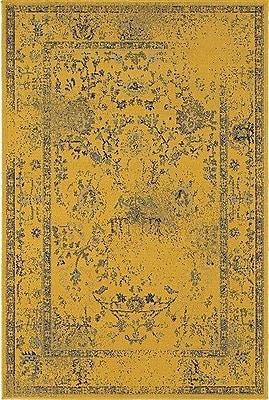 Bungalow Rose Raiden Gold/Gray Area Rug; 9'10'' x 12'10''