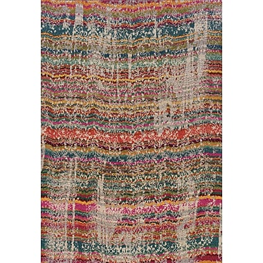 Bungalow Rose Terrell Red/Brown Area Rug; 4' x 5'9''