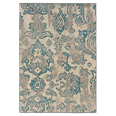 Bungalow Rose Terrell Floral Blue/Gray Area Rug; 9'9'' x 12'2''