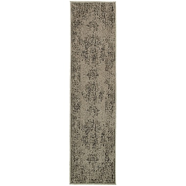 Bungalow Rose Raiden Gray/Charcoal Area Rug; 1'10'' x 3'3''