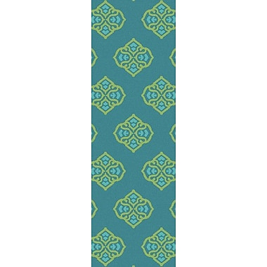 Bungalow Rose Faith Turquoise Geometric Area Rug; 8' x 11'
