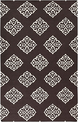Bungalow Rose Faith Chocolate Brown Area Rug; 8' x 11'